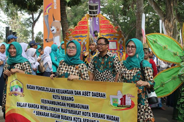 Sukseskan Pawai Budaya HUT KE 11 Kota Serang